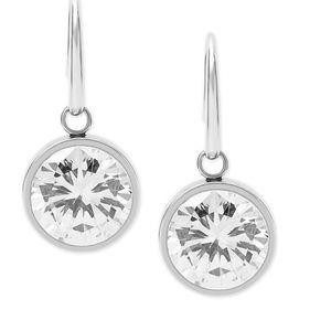 Michael kors silver crystal drop earrings